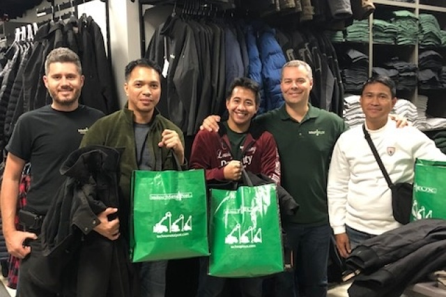 Philippines Workers Shopping in Canada